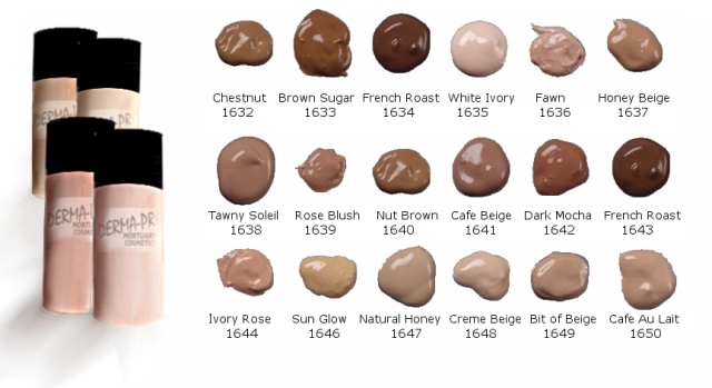 05 Velvet Touch Liquid Covering Cremes Color Chart