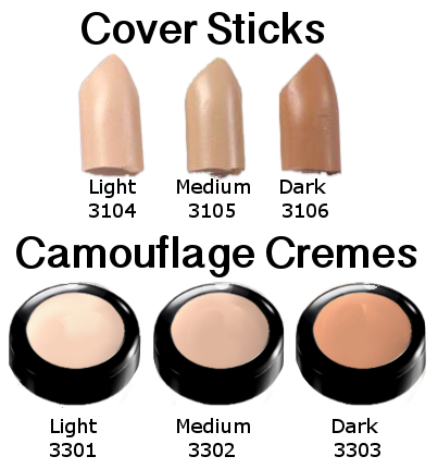 08 Camouflage Cremes Color Chart