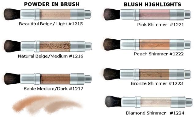 17 Powder Strokes Color Chart
